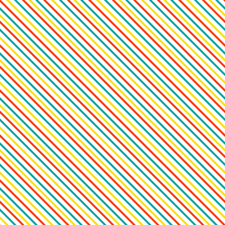 skew: Diagonal stripe seamless pattern. Geometric classic red, blue and yellow thin line background.