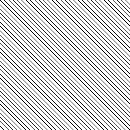 Diagonal stripe seamless pattern. Geometric classic black and white thin line background. 矢量图像