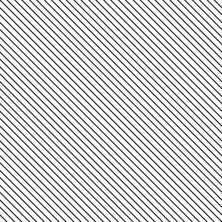 Diagonal stripe seamless pattern. Geometric classic black and white thin line background. Illustration