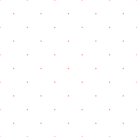subtle: Cross stitch subtle seamless vector pattern. Red embroidery folk design. Polka dot thin subtle background.