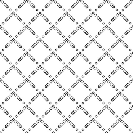 rhomb: Brush stroke rhomb seamless vector pattern. Black and white abstract geometric brushed shapes background.