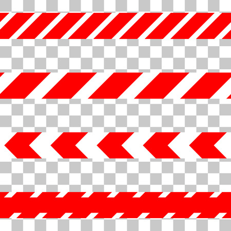 crime scene do not cross: Do not cross the line caution vector tape. Seamless police warning tape set. Prohibiting isolated red lines. Illustration