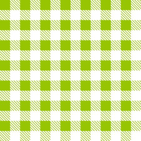 tartan plaid: Tartan plaid seamless pattern. Kitchen green checkered tablecloth fabric background. Illustration