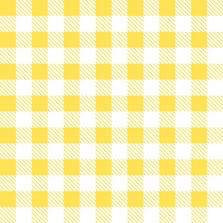 tartan plaid: Tartan plaid seamless pattern. Kitchen yellow checkered tablecloth fabric background.