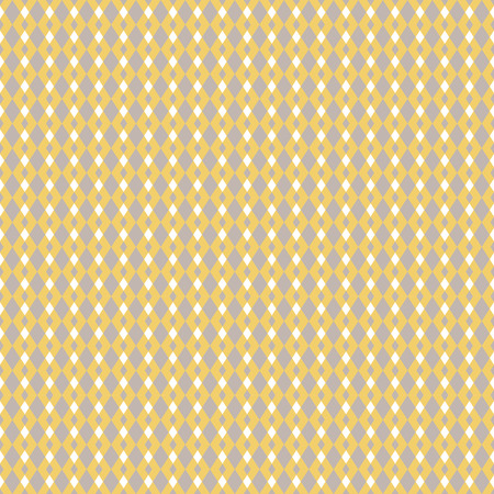 Mustard yellow and taupe geometric seamless pattern. Classic simple rhombus style.