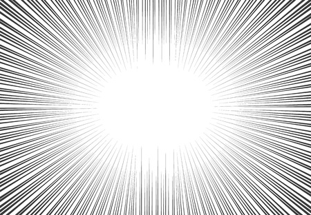 manga style:  comic book speed lines background. Starburst explosion in manga or pop art style.