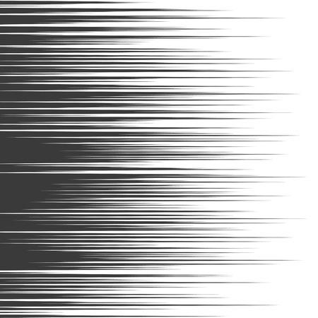 bande dessinée lignes de vitesse horizontale de fond. explosion Starburst dans le manga ou pop style art. Vecteurs
