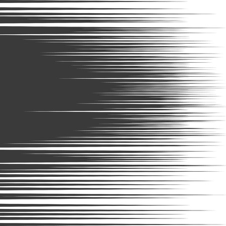 horizontal lines: comic book speed lines background. Starburst black and white explosion in manga or pop art style.
