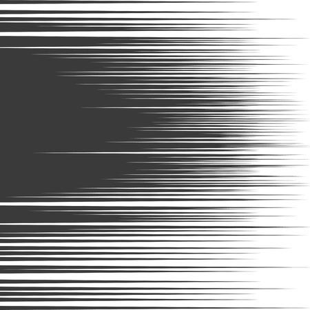 fumetti linee di velocità di fondo. Starburst esplosione in bianco e nero nel manga o pop stile art. Vettoriali