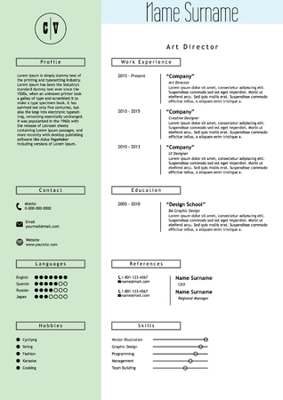 infographic ideas infographic style resume template best free