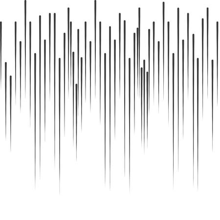 Comic Book vettore effetti linee di movimento pioggia manga. I raggi di velocità della banda verticale.