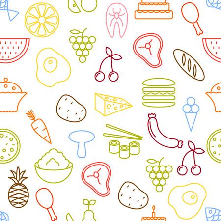 zanahoria caricatura: delgada l�nea de los iconos del transparente. Alimentos, vegetales y frutas icono de fondo blanco para sitios web, aplicaciones, presentaciones, tarjetas, plantillas o blogs.