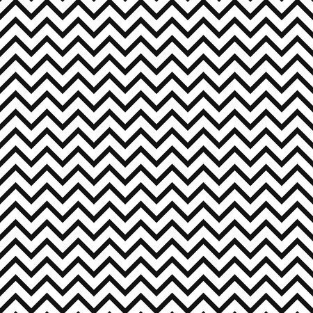 striated: Chevron zigzag black and white seamless pattern.