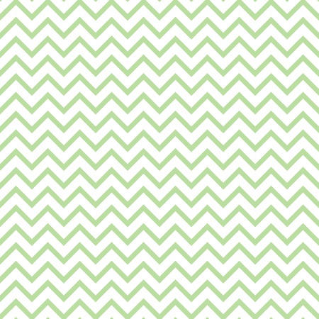 striated: Chevron zigzag green and white seamless pattern. Illustration