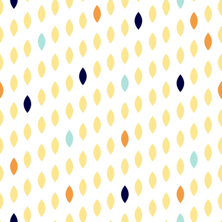 striated: Simple drop polka dot yellow shape seamless pattern. Vector geometric row background. Polkadot pattern. Dotted scandinavian ornament.