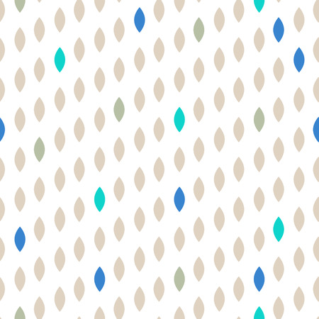 striated: Simple drop polka dot beige shape seamless pattern. Vector geometric row background. Polkadot pattern. Dotted scandinavian ornament.