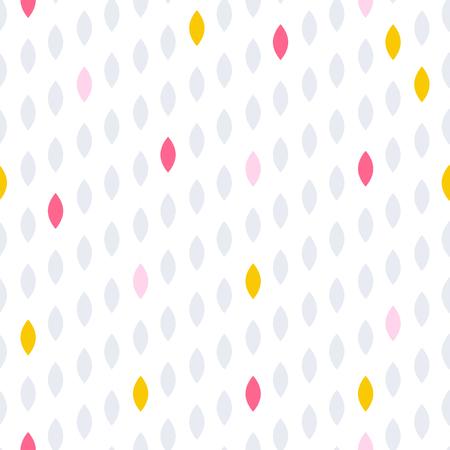 striated: Simple drop polka dot shape seamless pattern. Vector geometric row background. Polkadot pattern. Dotted scandinavian ornament. Illustration