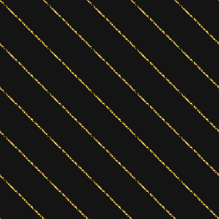 oblique line: Gold foil glitter line stripes dark seamless pattern. Vector shimmer abstract oblique lines grey texture. Sparkle shiny striped background.