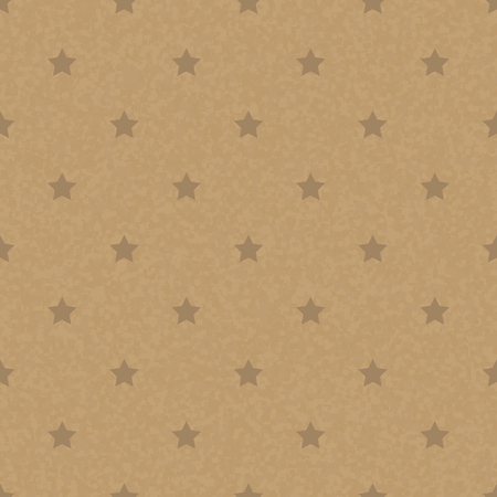 or recycled: Kraft recycled paper texture vector. Seamless craftpaper with star subtle pattern overlay. Handmade designer brown paper.