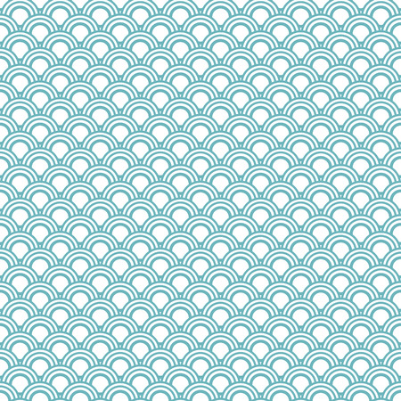 pattern of geometric shapes: Japanese wave oriental seamless pattern. Asian style blue pattern with geometric shapes.