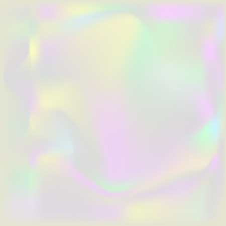 Holographic pearl background. Iridescent hologram turbid backdrop. Nacreous pearl texture paper. Ilustração