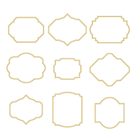 Gold Border White Empty Frame Set For Cards. Frame Templates ...