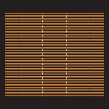 bamboo mat: Traditional makisu woven mat for sushi rolls. Japan bamboo mat for making sushi. Illustration