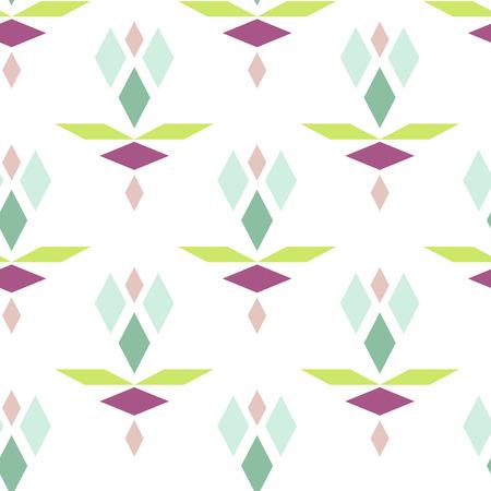 rhomb: Colorful geometric diamond pattern. Rhomb shapes geometry vector seamless pattern.
