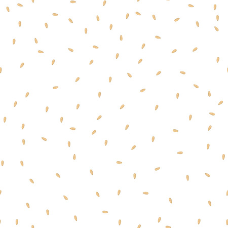 Sesamsamen nahtlose Vektor-Muster. Verpackung Hintergrund Design. Vektorgrafik