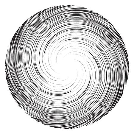 manga: Vortex speed lines background. Swirl radial storm in manga or pop art style. Collapsar on white.