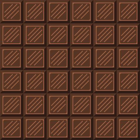 choc: Chocolate bar seamless pattern. Milk natural chocolate square tiles texture. Illustration