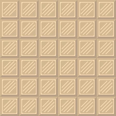 white chocolate: Chocolate bar seamless pattern. White chocolate square tiles texture. Illustration