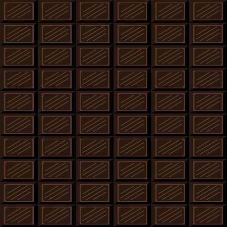 choc: Chocolate bar seamless pattern. Dark chocolate square tiles texture.