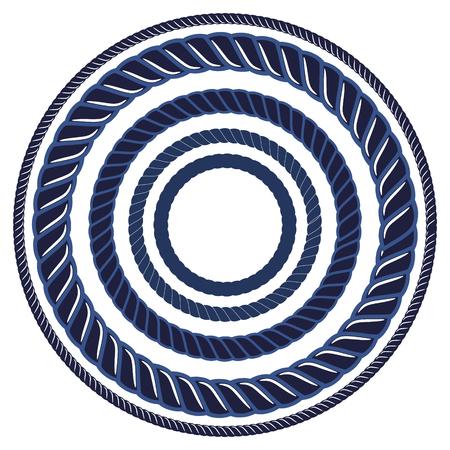hinge: Twine rope navy blue marine brush. Pattern string border brush, saved in brush panel. Diy twine bows and sailor knots. Illustration
