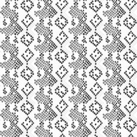 light skin: Serpent skin seamless light vector texture. Gray tone colors snake pattern ornament for textile fabric. Artificial reptile lizard leather pattern.