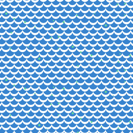 squama: Fish scale blue vector seamless pattern. Squama textile fabric print.