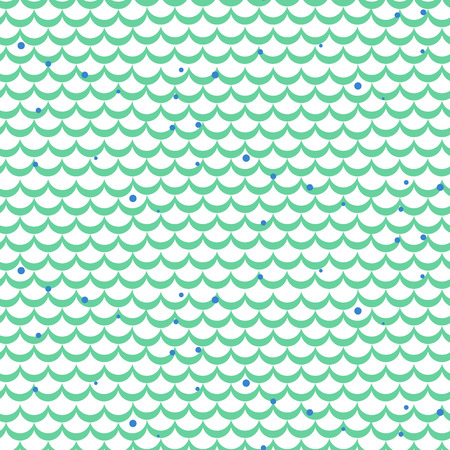 fish scale: Fish scale green vector seamless pattern. Squama textile fabric print.