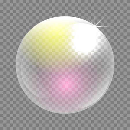 iridescent: Transparent soap bubble vector clip art. Iridescent bubble sphere circle.