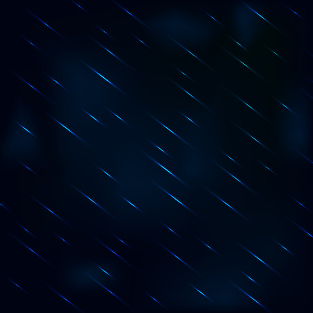 drizzling rain: Drizzling rain at night with hazy blue sky. Rain drops vector background.