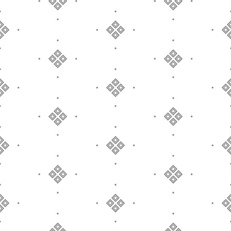 fine print: Vector seamless pattern with fine geometric shapes. Small rhombuses subtle print white background. Illustration