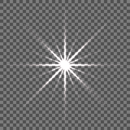 Shining vector star illustration. Glow transparent spot radiance. 矢量图像