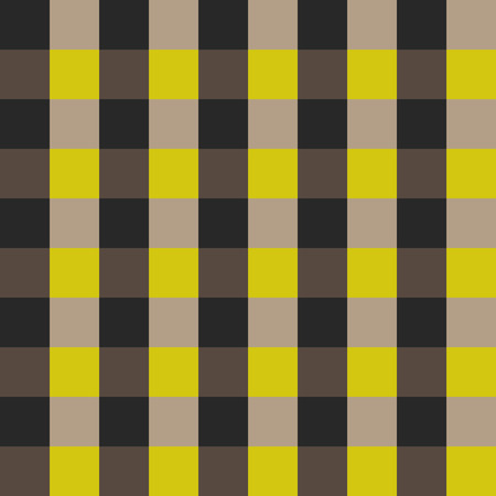 brown shirt: Plaid shirt seamless vector pattern. Checkered yellow and brown fabric texture ornament. Illustration