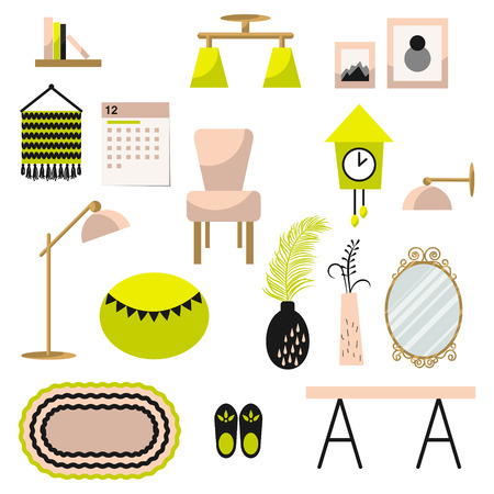 home decor home decor and furniture vector set flat style interior illustration modern - Home Decor Photos Free