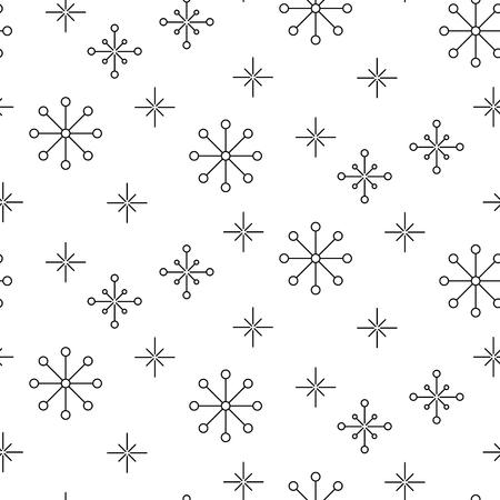 Vintage Copo De Nieve Simple De Patrones Sin Fisuras. Delgada Línea ...