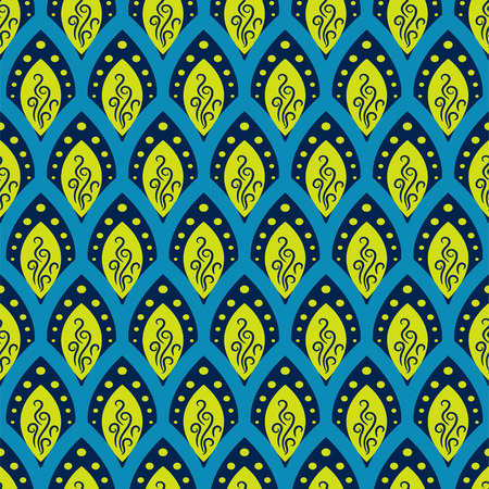 fish scale: Abstract fish scale blue pattern in oriental style.