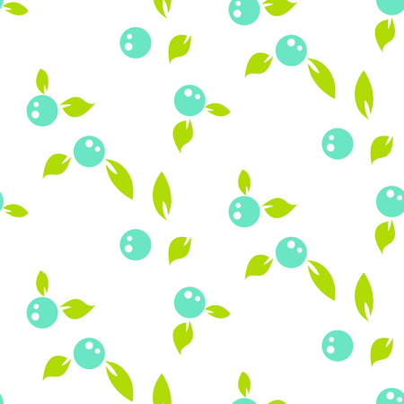 Berry light seamless pattern white background. Illustration