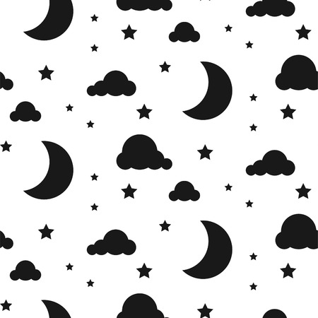 starlight: Starlight night seamless vector pattern.