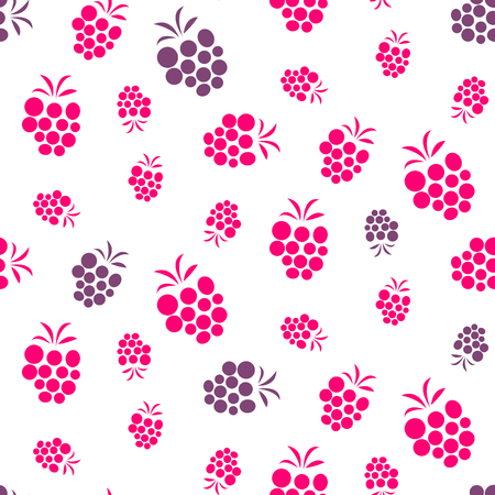 raspberry pink: Raspberry pink and purple seamless pattern on white.