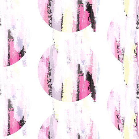 smudge: Abstract pastel pink color brush stroke stains seamless pattern. Stock Photo