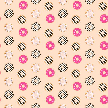 Donut glazed pattern. Illustration